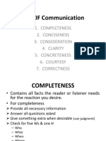 7 Cs 0F Communication