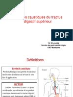 7. Br++lures caustiques du tractus digestif sup+®rieur (Dr LAYAIDA)