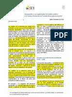 Ecuador. El Bono Demografico y Sus Implicaciones de Politica Publica