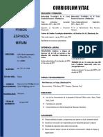 Curriculum Vitae Miriam 2019
