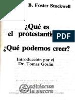 ¿Qué Es El Protestantismo Pág80-85