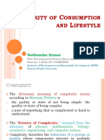 Complexity of Consumption and Lifestyle