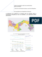 Desarrollar Un Trabajo Investigativo Sobre Las Características Geográficas de La República de Panamá