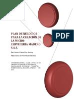 Plan de Negocios Para La Creacion de Una Micro Cerve
