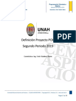 Definicion Proyecto Programacion Orientada a Objetos