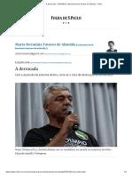 A Derrocada - 10-10-2018 - Maria Herminia Tavares de Almeida - Folha