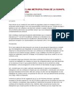 Intendencia de Lima Metropolitana de La Sunafil Emite Resolución