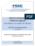 Língua Inglesa - Tópicos Gerais - APOSTILA 2019 (1)