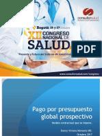 Pago Por Presupuesto Global Prospectivo - Danny Viviana Moreano - Consultorsalud 2017