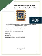 Informe Bioseguridad en Laboratorio