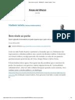 Bem-Vindo Ao Porão - 10-05-2019 - Vladimir Safatle - Folha