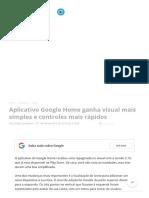 Aplicativo Google Home Ganha Visual Mais Simples e Controles Mais Rápidos