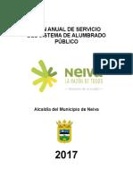 Plan Anual de Alumbrado Público