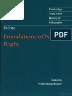 Johann Gottlieb Fichte - foundations-of-natural-right