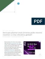 Será Que Plantar Mais Árvores Pode Mesmo Resolver a Crise Climática Global