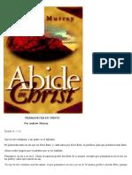 Permanecer en Cristo - Andrew Murray 1
