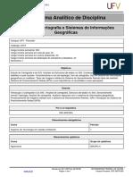 Programa Analitico-Cartografia e Sistemas de Informaes Geogrficas