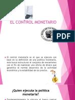 El Control Monetario