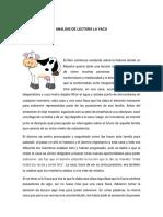 Analisis de Lectura La Vaca