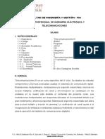Silabo Telecomunications III 2019-02