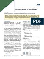 En Analysis of Thermal Efficiency Limit of Steam Methane Reforming Process(1)