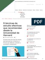 5 Técnicas de Estudio Efectivas Que Recomiendan Desde La Universidad de Harvard
