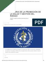 historia de la promocion de la salud y gestion del riesgo