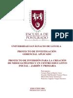 2004 Barrios Proyecto de Inversion Para La Creacion de Nidos Satelites y Un Centro Educativo Inicial Jardín y Primaria