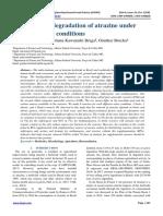 Anaerobic biodegradation of atrazine under different redox conditions