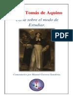 Carta a Los Estudiantes, Santo Tomás de Aquino.