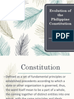 Evolution of the Philippine Constitution Final