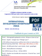 Pompes à pédales contre la faim, un modèle d'entrepreneuriat social au service de l'agriculture vivrière - International Development Enterprises India