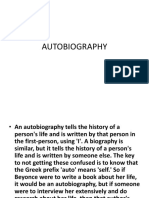 Autobiography Quiz
