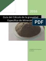 Gravedad Especifica de Minerales