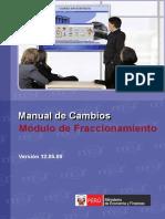 3. Cambios Módulo Fraccionamiento Versión 12.05.00