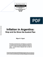 Inflation in Argentina Stop and Go Since the Austral Plan