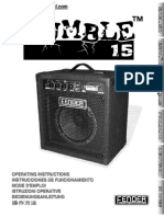 Fender Rumble 15 Bass Amps Manual