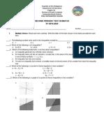 2nd Periodic Test - Math 8