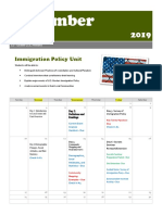 immigration policy unit calender