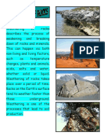 Weathering of Rocks Describes the Process of Weakening and Breaking Down of Rocks and Minerals