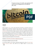Proposed Ban on Cryptocurrency in India_ an Analysis of 'Banning of Cryptocurrency & Regulation of Official Digital Currency Bill, 2019