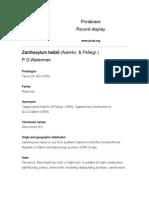 Zanthoxylum heitzi - Rutaceaei