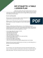 Elementary Etiquette Lesson Plan