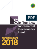 2018 Sin Tax Incremental Revenue Report