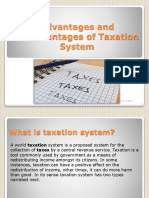 Taxation System advantage and disadvantage