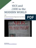 EUGENICS and GENOCIDE in the MODERN WORLD - Dr Romesh Arya Chakravarti