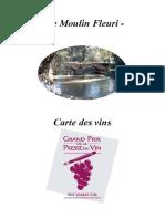 Carte Vins Moulin Fleur i