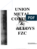 Galvanizing Procedure-UNION METAL COATING