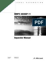 Separator Manual MMPX 403SGP-11