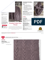 LW6022 Braided Cable Knit Throw Free Pattern